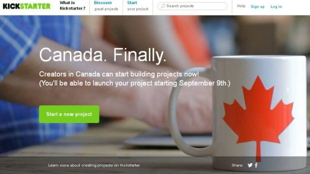 Kickstarter first announced in June that it would soon start accepting Canadian projects.