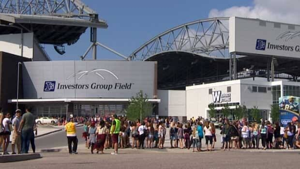 33,400 people are expected to pour into the Investors Group Field on Thursday.