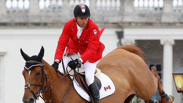 Eric Lamaze, seen competing at the 2012 Olympics, was on hand for Friday's Grand Slam announcement.