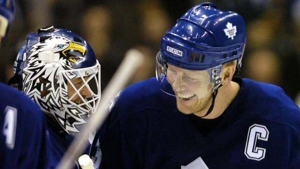 Goalie Ed Belfour, left, and captain Mats Sundin played key roles in Toronto's last NHL post-season appearance. Both have been retired long enough to be inducted into the Hockey Hall of Fame.