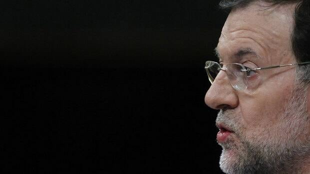 Spain's Prime Minister Mariano Rajoy speaks during a control session at the Spanish Parliament, in Madrid on Wednesday, the day a new austerity package of tax hikes and spending cuts was unveiled.