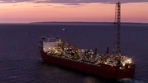 The Terra Nova FPSO heads along the Newfoundland coast in this 2001 file photo. Terra Nova is one of three producing fields in the Newfoundland offshore.