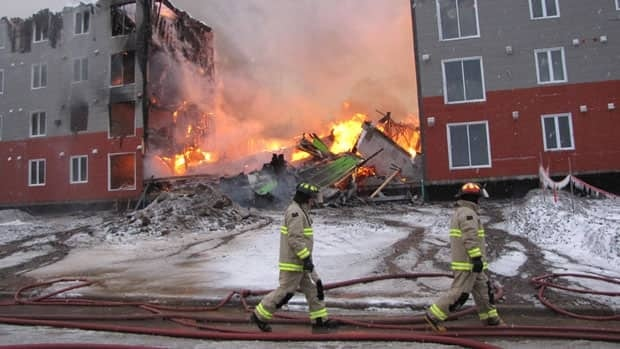 The fire on Booth Avenue in Labrador City burned for nearly two days, forcing the nearby hospital to evacuate its patients.