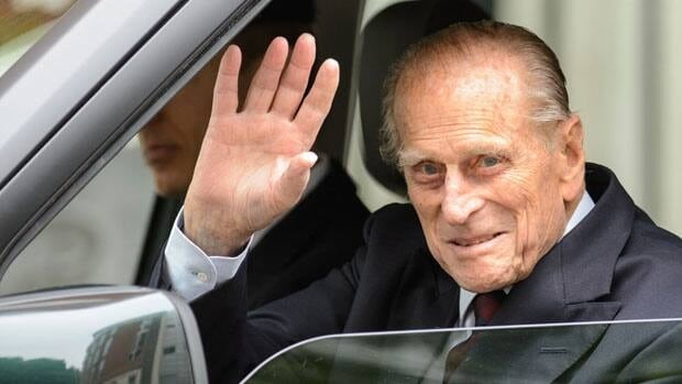 Britain's Prince Philip left the London Clinic in central London Monday, 10 days after undergoing exploratory surgery on his abdomen.