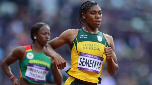 Caster Semenya won Olympic silver in the 800 metres at the London Games on Aug. 9, 2012.