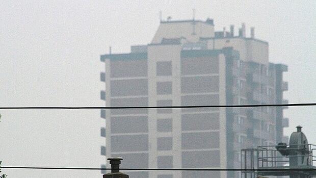 The city of Hamilton is under a smog advisory.