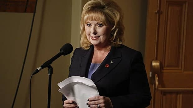 Senator Pamela Wallin reads a statement this week in Ottawa. Wallin has called an independent audit of nearly four years of her travel claims fundamentally flawed and unfair.