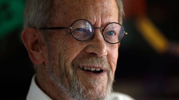 Crime writer Elmore Leonard, seen in September at his Bloomfield Township, Mich., home, is recovering at a hospital following a stroke.