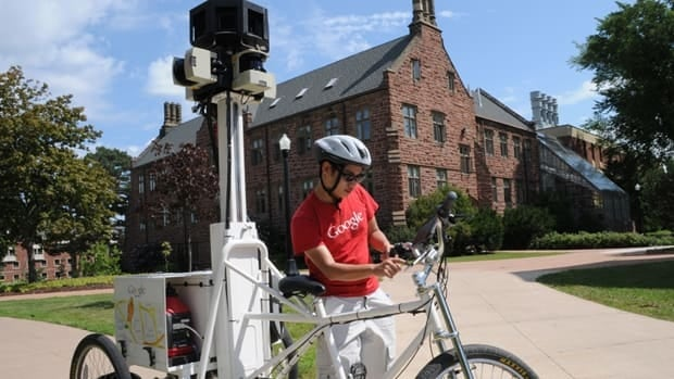 Google's Street View trike was riding across Mount Allison University's campus in Sackville earlier this week.