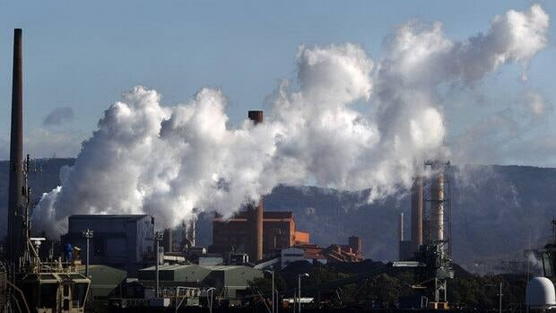 Australia's new prime minister, Kevin Rudd, has opted to reduce the country's carbon emissions through a system of emissions trading rather than by taxing polluters, such as this steel mill in the industrial town of Port Kembla.