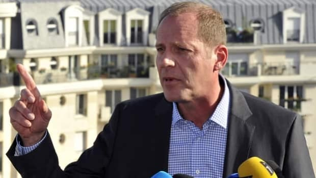 Tour de France director Christian Prudhomme speaks to reporters in Paris, France, on Monday.