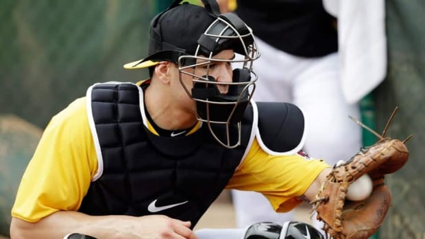 Pittsburgh Pirates' Russell Martin signed with the team as a free agent after playing for the New York Yankees last season.