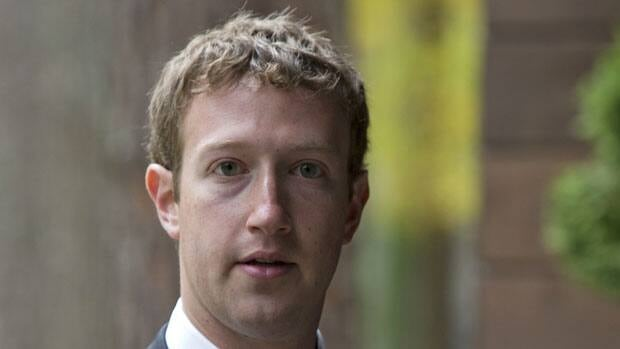 Facebook CEO Mark Zuckerberg, shown outside Moscow on Oct. 1, has watched his company lose $50 billion US in market value since its IPO in May.