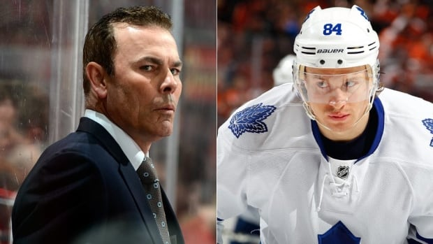 Capitals head coach Adam Oates, left, helped lure free agent Mikhail Grabovski, right, to Washington.