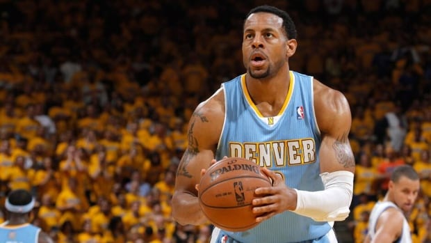 Andre Iguodala averaged 13 points, 5.4 assists and 5.3 rebounds while playing forward and guard last season for the Nuggets.