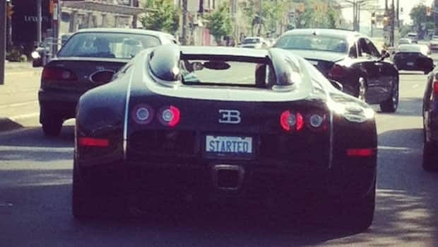 Drake's car is instantly recognizable from its vanity plate