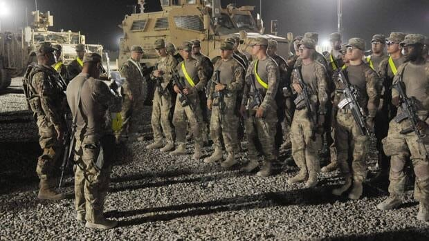 The last of the 33,000 surge troops sent to Afghanistan left the country Thursday, leaving 68,000 American forces in the warzone as the security transition to Afghan forces.