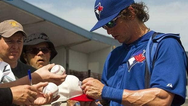 "Centre-fielder Colby Rasmus brings a mix of power and speed to the Blue Jays in 2012. ""A comfortable Colby Rasmus, and a productive one, is sure going to make us a lot better team,"" manager John Farrell says."