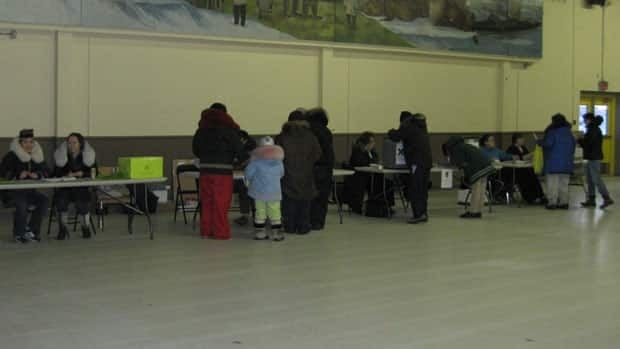 The polling station in Rankin Inlet, Nunavut, on Monday.