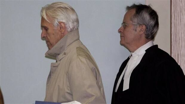 Former Quebec Superior Court Judge Jacques Delisle, left, is on trial, accused of killing his wife.