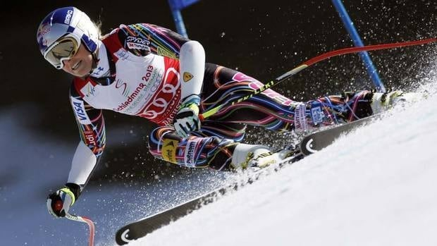 Lindsey Vonn, here wrapping up the super-G title back on March 15, says she needs both knees checked after the rigours of a championship season.
