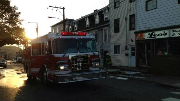A small fire was quickly extinguished Tuesday morning at a row house on Freshwater Road.
