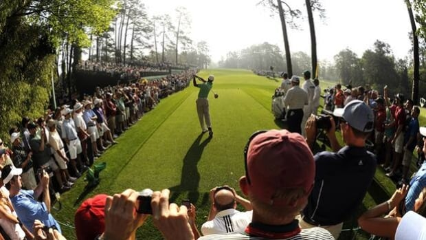 Tiger Woods plays in Wednesday's practice round at Augusta National, home of the Masters.