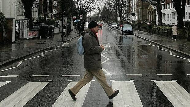 The Paralympic torch relay will pass the Abbey Road street crossing made famous by The Beatles, shown here.
