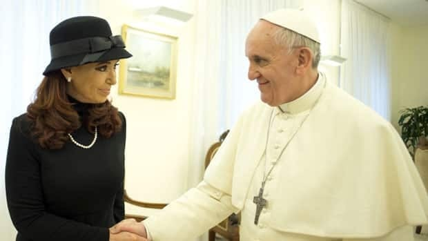 Argentine President Cristina Fernandez, left, with newly elected Pope Francis, right, during Monday's private meeting at the Vatican. The pair clashed over her political ideology while he was the Archbishop of Buenos Aires.