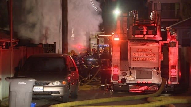 Fire and police investigators are looking into three suspicious fires in East Vancouver.
