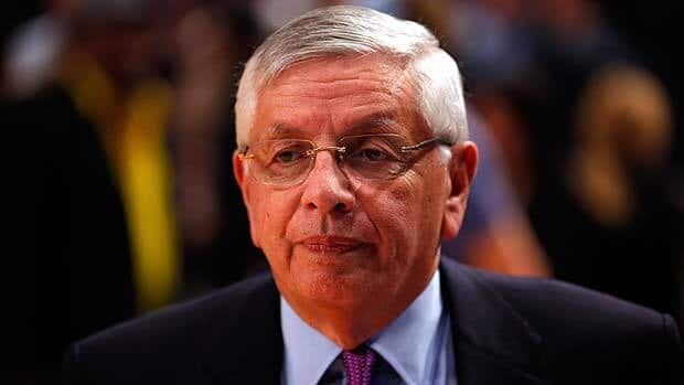 NBA Commissioner David Stern attends Game Three of the Eastern Conference Quarterfinals between the New York Knicks and the Miami Heat.
