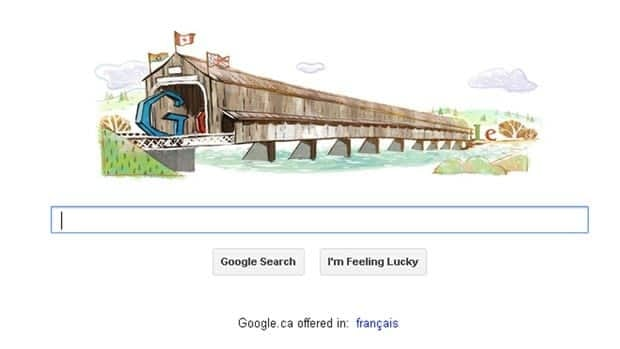 The Hartland Covered Bridge's 111th anniversary is being marked by Google today on its daily doodle.