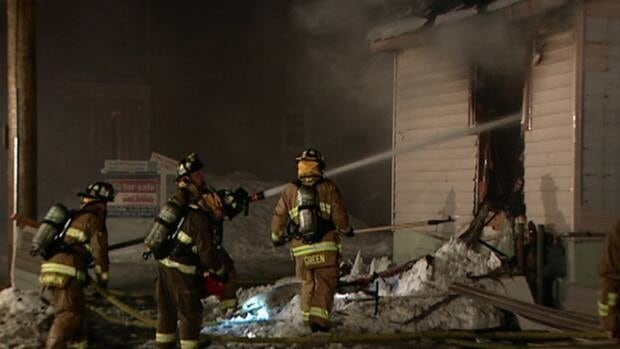 Seven people from four apartments were left homeless after a fire destroyed a building on Montfort Street Wednesday. Four people from an adjacent home were also displaced for one night as their hydro had to be cut off.