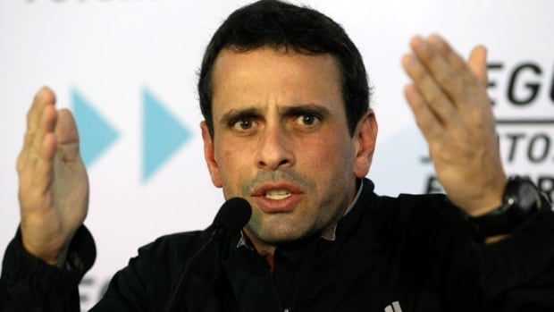Opposition leader Henrique Capriles announced late Sunday that he will run for the presidency.