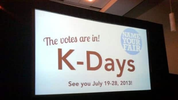 The K-Days name, chosen from six other options, recalls back to when the festival was known as Klondike Days before being changed in 2006.