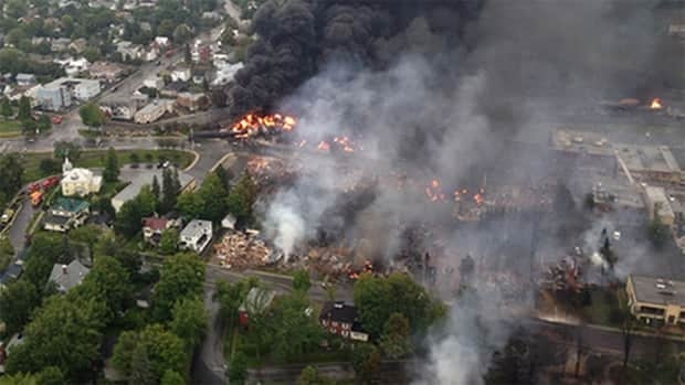 Lac-Mégantic, Que., located about 250 kilometres east of Montreal, has a population of about 6,000. An estimated 2,000 people were evacuated following the explosion and subsequent fires.