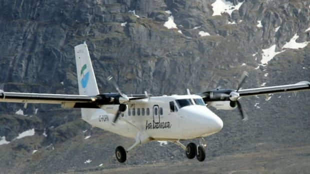 An Air Labrador Twin Otter, making a Skedevac, made a hard landing at the St. Anthony Airport on Wednesday.