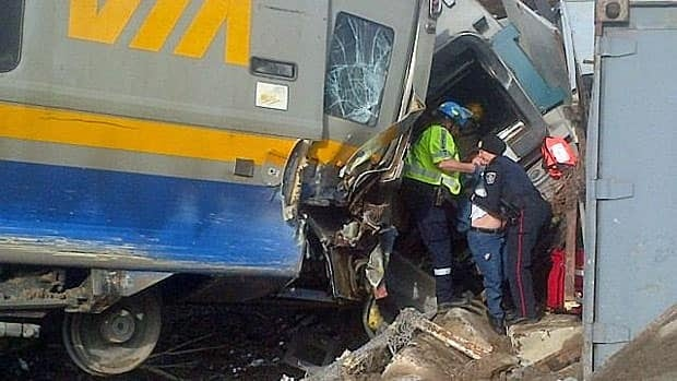 Three Via crew members died when a passenger train derailed near Burlington, Ont., in February 2012.