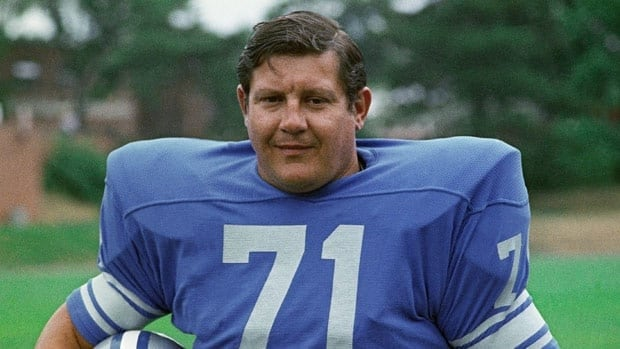 Alex Karras, seen with the Detroit Lions near the end of his career, overcame a controversial suspension and then went on to become a television presence in the 1970s and 1980s.