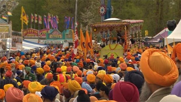 The Sikh celebrations around Vaisakhi mark the annual harvest festival and commemorates the establishment of the Khalsa.