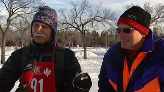 George Streefkerk (left) and Klaus Huckfeldt have skied the entire 55 kilometres of the Canadian Birkebeiner since it started.