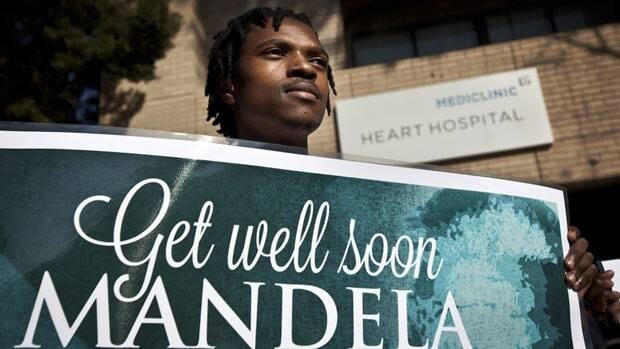 South African President Nelson Mandela is engaging with his family and seeing improvement from the recurring lung infection that forced him to spend a ninth day in the hospital Sunday.