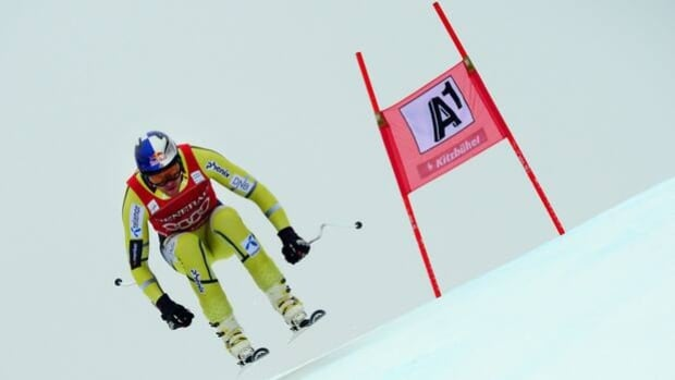Aksel Lund Svindal skis to victory in Friday's World Cup super-G at Kitzbuehel, Austria.