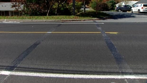 Nine crosswalks, including this one on Waverley Road at Rocklin Drive, have been removed in the Halifax Regional Municipality this year.