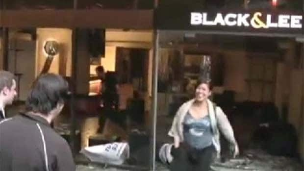 Like many rioters, Camille Cacnio was caught in the act on camera during the riot.