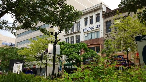 The historic buildings in Gore Park have a long history and an uncertain future.
