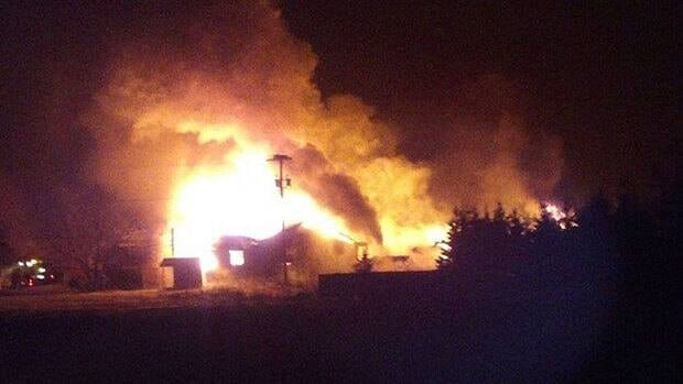 Fire destroyed Joe Dunphy Custom Woodworking in Morell overnight Thursday.