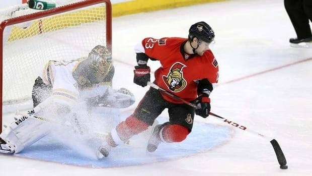 Allowing skaters to spray ice in the face of goaltenders on shootout attempts, as Kaspars Daugavins is doing here last Monday, has to be stopped says Ron McLean.