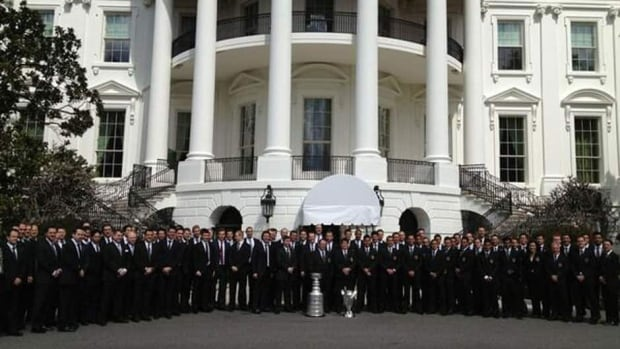 The L.A. Kings brought the Stanley Cup to Washington, D.C., on Tuesday.