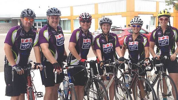 The doctors are cycling around Atlantic Canada to raise awareness of the need to treat pancreatic cancer more aggressively.